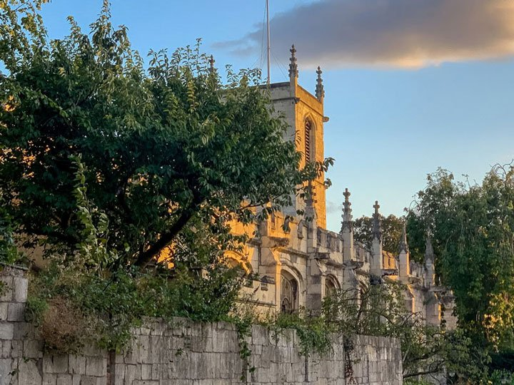 St Olave's Church in the evening